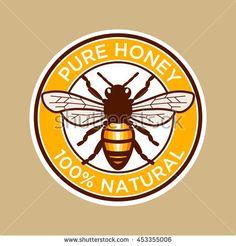Pure Honey Bee Label