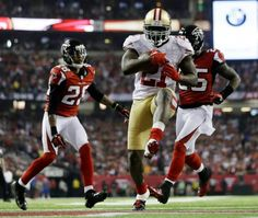 f54c6f522 San Francisco Frank Gore breaks away for a nine-yard touchdown run during  the second half of the NFL football NFC Championship game against the San  ...