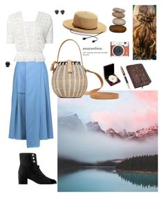 """""""A Change of Scenery"""" by jessicaoftheoaks ❤ liked on Polyvore featuring Rochas, LoveShackFancy, Hring eftir hring, SONOMA Goods for Life, Fuji and Bey-Berk"""