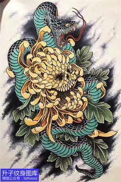Japanese Snake Tattoo, Japanese Tattoo Designs, Japanese Sleeve Tattoos, Trailer Park, Asian Tattoos, Japan Tattoo, Oriental Tattoo, Irezumi Tattoos, Tattoo Project
