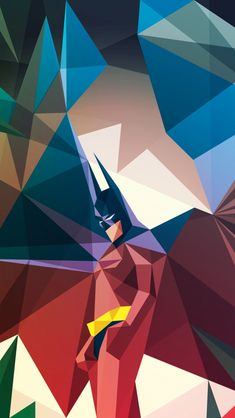 Geometric Batman iPhone Wallpaper