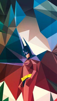 Geometric Batman iPhone Wallpaper