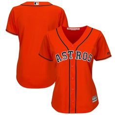 Houston Astros Majestic Women's Alternate Plus Size Cool Base Team Jersey - Orange