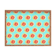 Bouffants and Broken Hearts Grapefruit Rectangular Tray | DENY Designs Home Accessories
