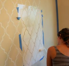 stenciled wall...