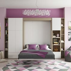 Multimo Queen Murphy Bed Finish: Gloss White and Light Wood