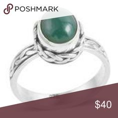 🎁GIFTED TO LISA🎁BALI💜925-STERLING SILVER RING 💎BALI LEGACY COLLECTION💎HANDCRAFTED💎 GENUINE GREEN CHALCEDONY RING SET IN PURE STERLING SILVER NICKEL FREE TCW 2.580 BALI LEGACY COLLECTION Jewelry Rings