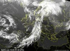 Satellite Image - a cold front reaching Italy
