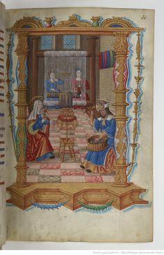 BnF Cote : Français 1537 Ancienne cote : Anc. 7584 Chants royaux sur la Conception, couronnés au puy de Rouen de 1519 à 1528.   Gallica