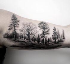Happy little  #trees  #bobross  # 328broome #nyc #tattooartist #realism #blackandgray #inkedmag #beautiful #design #fashion #art #bangbangtattoo #bangbangnyc #bestink #instalike #picoftheday #doubletap