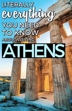 Athens things to do for your Greece trip. Here is everything you need to know about your trip to Athens, Greece. From where to stay, what to eat, tips, and things to do in Athens, this is literally EVERYTHING you need to know. #Athens #Greece #TravelGuides