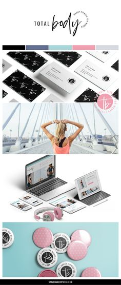 Style Maker Studio | Branding for Total Body PT | brand styling, logo design, website design, branding, small business, colour palette, personal training, fitness studio, women only, exercise, healthy eating, body and soul