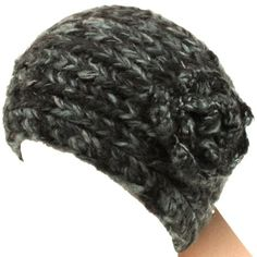 Adjustable Hand Knit Head wrap Headband Chunky Flower Multi Charcoal Gray with Black. From #SK Hat shop. List Price: $39.95. Price: $16.95