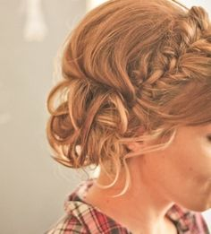 braided side bun | Last night was a very special night. One of my best friends, Kaity ...