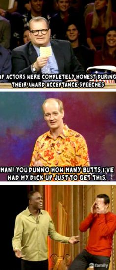 whose line is it anyway18 Wayne: it's been an honor working with Collin mochrie all these years