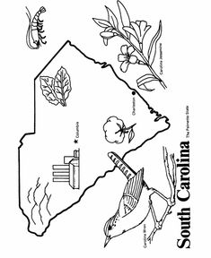 missouri state outline coloring page see more south carolina state outline