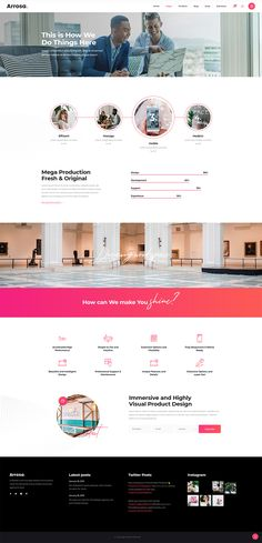 Arrosa WordPress theme encompasses every little detail you'll need to build & manage your business site. Creative Portfolio, Ux Design, All Modern, Creative Business, Wordpress Theme, Colorful, Detail, The Originals, Building