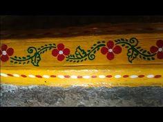 Painting Rangoli Design, Small Rangoli Design, Rangoli Designs Images, Beautiful Rangoli Designs, South Indian Blouse Designs, Kitchen Wall Storage, Ganesh Wallpaper, Pooja Room Design, Muggulu Design