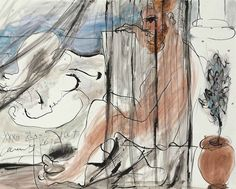 thunderstruck9:  Pablo Picasso (Spanish, 1881-1973), Le peintre et son modèle, Cannes, 26 July 1933. Gouache, watercolour, brush and India ink and gray wash on paper, 40 x 50cm.