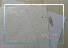 Papeles artesanos hechos a mano de algas, flores y paja (vintage) - Blanc & Blue Design