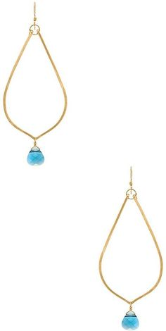 Mimi & Lu Cayla Earrings at Revolve Clothing Revolve Clothing, Turquoise Necklace, Women Accessories, Pendant Necklace, Jewels, Earrings, Beautiful, Fashion, Ear Rings