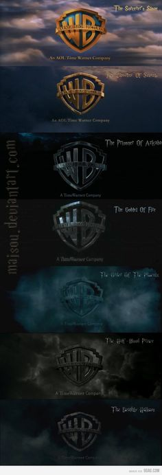 Warner Bros. Logo used with Harry Potter Films - illustrates mood/tone.
