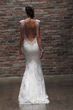 Alvina Valenta Fall 2014 #back 35 Best Statement Back Wedding Gowns of 2014 | OneWed