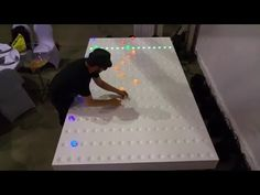 Playing music with interactive LEDs - GRIDI midi sequencer created by Yuvi Gerstein