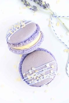 Lemon Lavender Macarons | Sprinkles for Breakfast