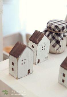 casitas de madera en decoración nórdica