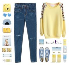 """""""BeautifulHalo33"""" by centurythe ❤ liked on Polyvore featuring Converse, Polaroid, Bormioli Rocco, Korres, Cutie and Kiehl's"""