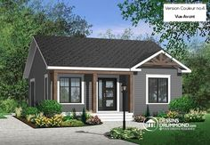 COOL house plans offers a unique variety of professionally designed home plans with floor plans by accredited home designers. Styles include country house plans, colonial, Victorian, European, and ranch. Blueprints for small to luxury home styles. Small Cottage House Plans, Small Cottage Homes, Bungalow House Plans, Cottage Style Homes, Country House Plans, Cottage Design, House Design, Simple Ranch House Plans, Modern Cottage Style