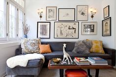 "What a great site for me to get inspiration for the living area - Full of design tips, plus TONS of photos. This pinned photo is a ""hip chic living room design""... There's heaps of others I love too."
