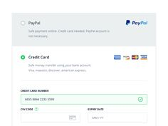 One of my recent works. Third step of checkout process, payment details. Full screen attached :)