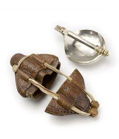"Silver Folding spoon with leather box, 1300-1400. Legacy of Hermann von Goch, Cologne. Germany. MAK Köln, Source. """