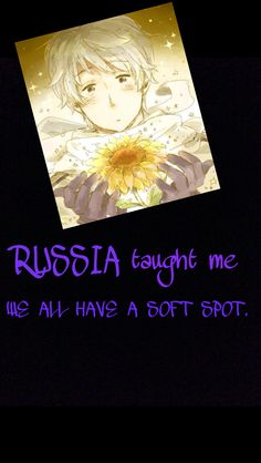 Hetalia - Russia : The things Hetalia taught Me