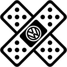 Volkswagen VW banda ayuda vendaje Euro etiqueta pegatina coche carro ventana portátil troquelada vinilo seleccionar Color y tamaño