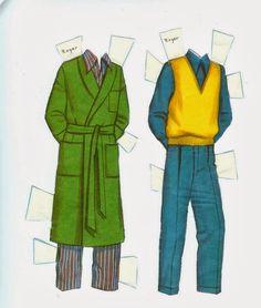 Coleção de bonecos de papel do Desenho Animado Os 101 Dálmatas.