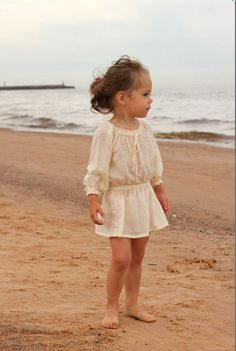 Summer girls blouse B15 ivory beige cotton top beach blouse special occasion