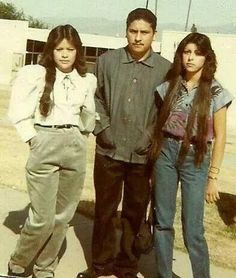 One thing I learned being born and raised in LA is you don't always get what you give, so choose your friends wisely. Chicano Love, Chicano Art, Old School Pictures, Father Daughter Tattoos, Chola Style, Brown Pride, Valley Girls, Youth Culture, My Vibe
