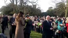 The Duchess of Cambridge at Sandringham looking Blooming lovely 2014