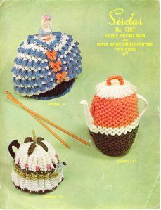 Vintage Knitted Tea and Coffee Pot Cosies from WonkyZebra