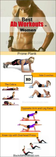 Best Ab Exercises for Women at Home- Do you want get a flat belly and six pack ? Here are the best ab workouts for women at home to burning that stomach fat  and lower body fat.With no equipment your can do these easy abdominal workout fast in 10 minutes.