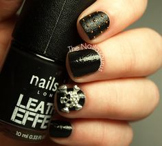 Nails Inc's Black Leather Effect