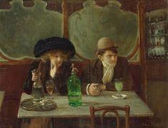 Jean Béraud, Absinthe drinkers,1908