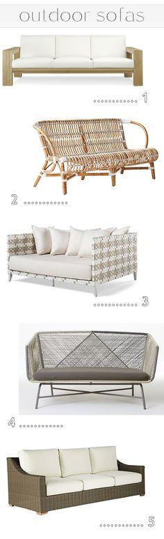 outdoor sofas - simplified bee #outdoorliving