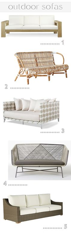 outdoor sofas - simplified bee #outdoorliving