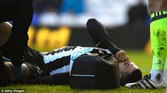 After the goal, striker Aleksandar Mitrovic stayed on the ground and needed medical attention