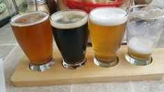 Innovation Brew Works Cal Poly Pomona  From the handle: Blonde Ale  B Green and Gold (Gold Ale)  B Palomares Porter B Luther Holt IP B