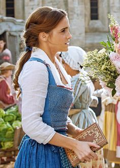 Emma Watson as Belle!!! She is just to beautiful !!